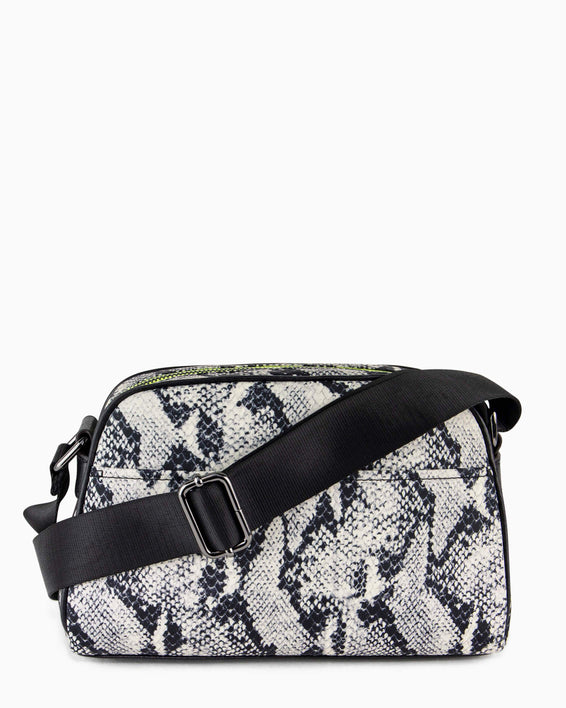 Sky High Crossbody - vanilla snake nylon back