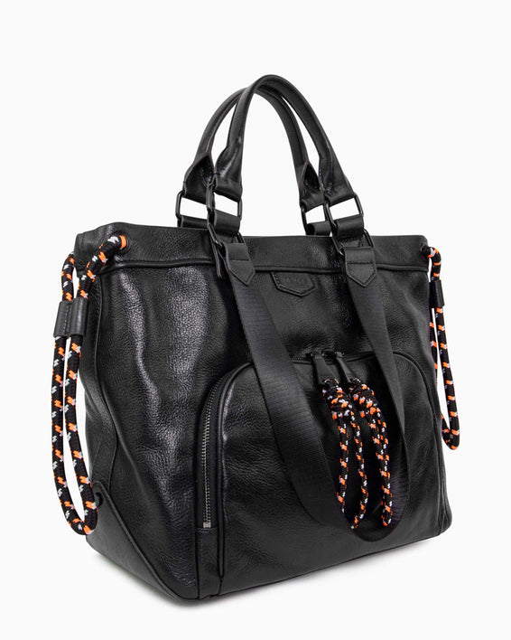 Sky High Tote - black side angle