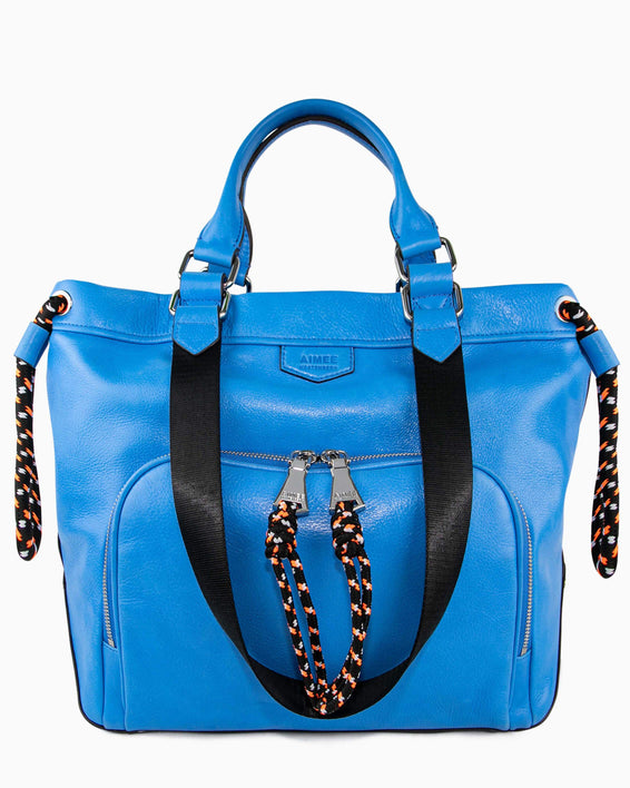 Sky High Tote - sky blue front