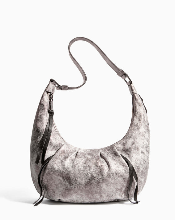 Tamitha Hobo Distressed Pewter