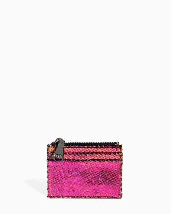 Zip It Up Card Case - iridescent scales front