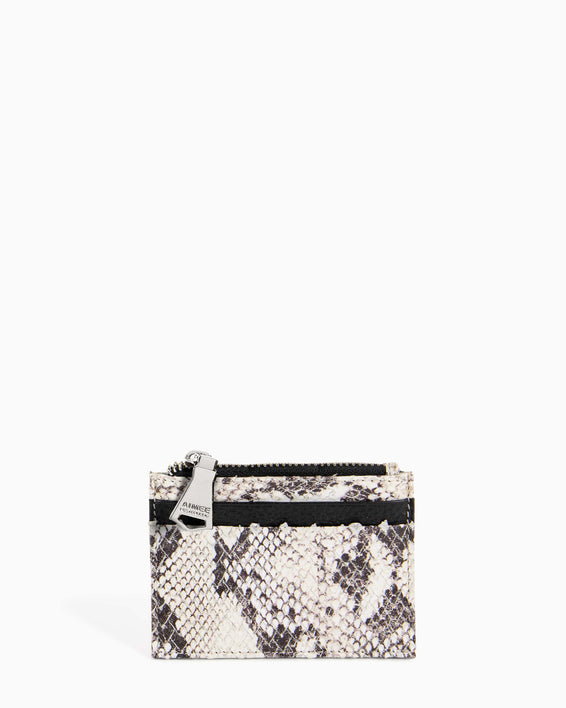 Zip It Up Card Case - vanilla snake front