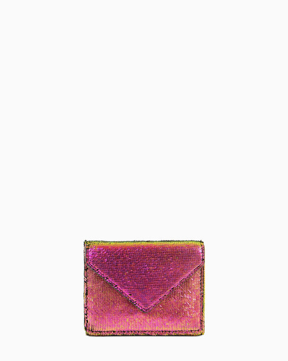 Zip It Up Trifold Wallet Iridescent Scales