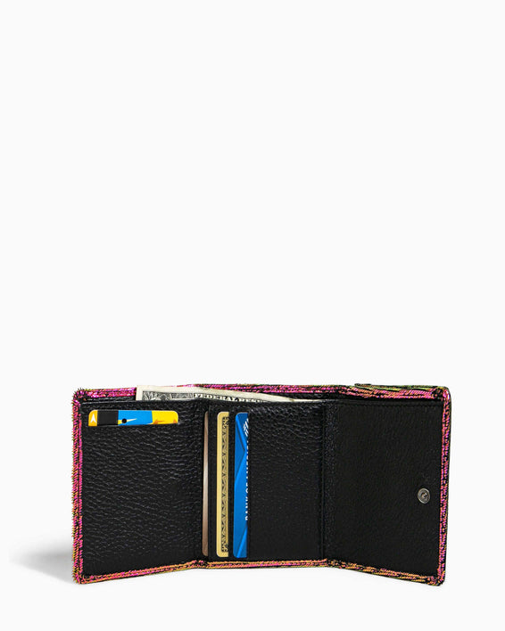 Zip It Up Trifold Wallet - interior functionality