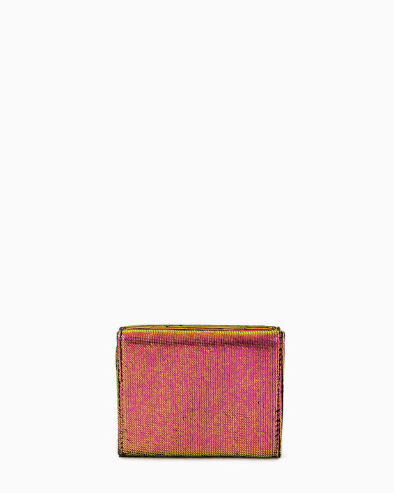 Zip It Up Trifold Wallet Iridescent Scales - back