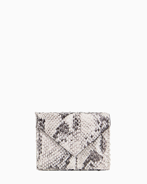 Zip It Up Trifold Wallet Vanilla Snake