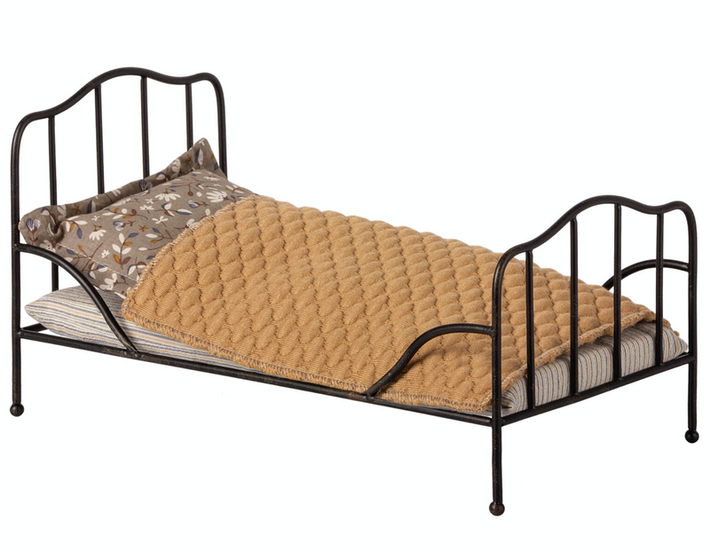 Maileg Vintage Bed Anthracite