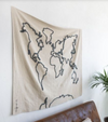 Lorena Canals Wall Hanging Canvas World Map
