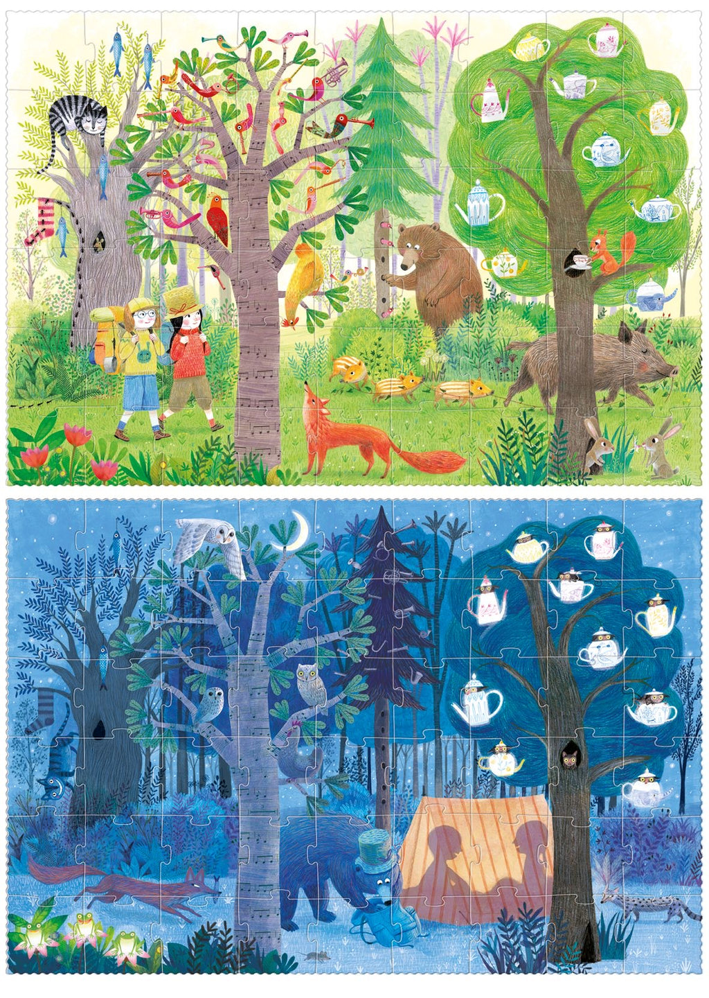 Londji Day and night. In the forest puzzle