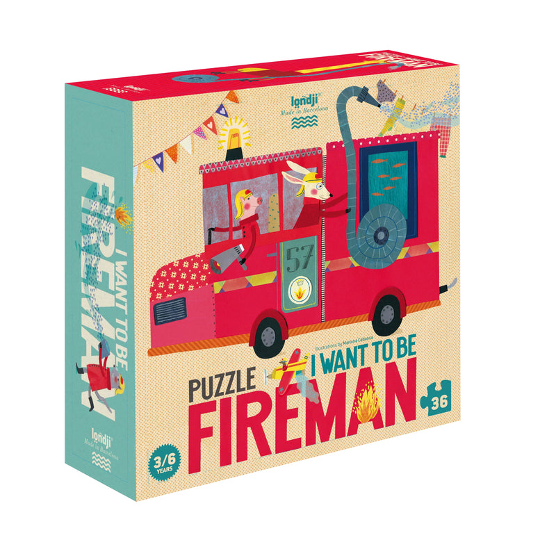 Londji I want to be fireman puzzle