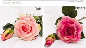 Artificial Flowers Vivid real touch roses