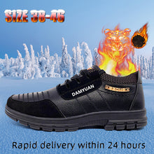 Load image into Gallery viewer, Hot Fur Men's Casual Shoes  Warm British Style Leather