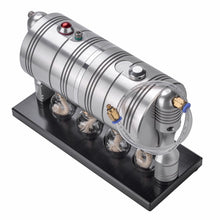 Load image into Gallery viewer, Model Toys DIY Full Metal Startable Retro Steam Engine Motor