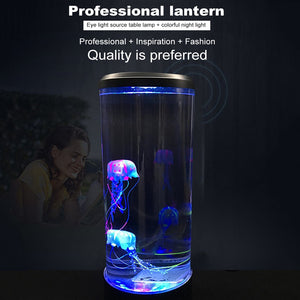 Fish Tanks Aquarium Jellyfish Night Light Bedside