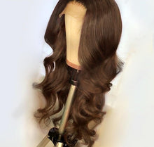 Load image into Gallery viewer, Wigs For Women Brazilian Remy Hair Dark Brown