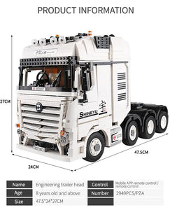 Lego Building Blocks Container Big Truck Vehicles car Model