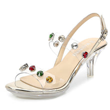 Load image into Gallery viewer, Shoes High Heels Sandals Transparent Ladies Clear Open Toe Crystal