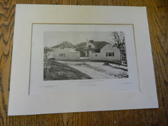 Stable of C.S. Houghton,ESQ, Suffolk Road, Newton, MA, 1905,Lithograph.