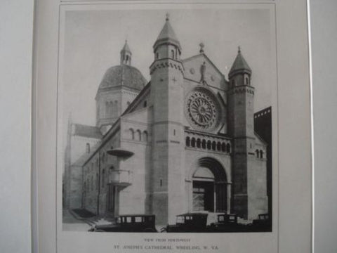 NW View: St. Joseph's Cathedral, Wheeling WV, 1927. Edward J. Weber