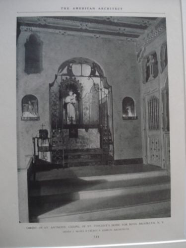 Chapel of St. Vincent's Home for Boys in Brooklyn NY, 1927. Henry J. Mcgill & Talbot F. Hamlin
