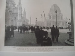 Court of Honor & Administration Building: World's Columbian Exhibition,  Chicago IL, 1893