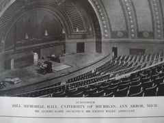 Hill Memorial Hall, University of Michigan in Ann Arbor MI, 1913. Albert Kahn