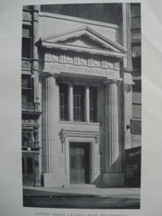 Market Street National Bank, Philadelphia, PA, 1911, Lithograph. Thomas, Churchman, and Molitor.