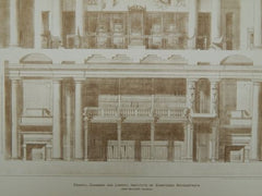 Council Chamber & Library: Institute of Chartered Architects: London, England, 1893. John Belcher
