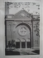 Church of the Immaculate Conception in West Springfield, MA, 1913. John William Donohue