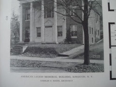 American Legion Memorial Building in Kingston NY, 1927. Charles S. Keefe