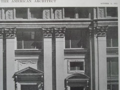 Boatman's Bank Building, Detail of Lower Stories, St. Louis MO, 1915. Eames & Young