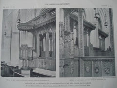 Calvary Church, Rood Screen and Pulpit, Pittsburgh PA, 1911. Cram, Goodhue & Ferguson