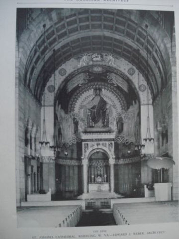 The Apse: St. Joseph's Cathedral, Wheeling WV, 1927. Edward J. Weber