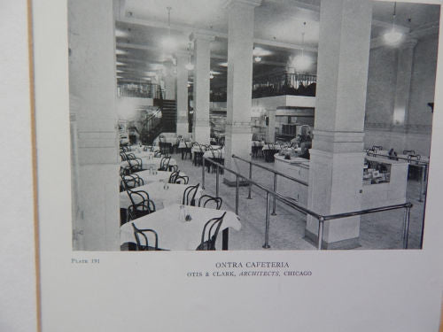 Ontra Cafeteria, Chicago, IL, 1918, Lithograph. Otis & Clark.