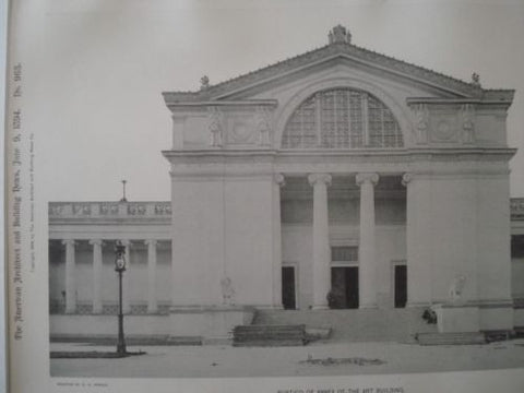 Annex: Art Building, World's Columbian Exhibition, Chicago IL, 1894. Charles B. Atwood