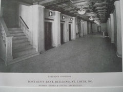 Boatman's Bank: Banking Room & Corridor, St. Louis, MO, 1915. Eames & Young