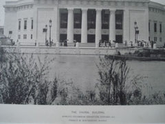 Choral Building: World's Columbian Exhibition, Chicago IL,1893. Francis M. Whitehouse