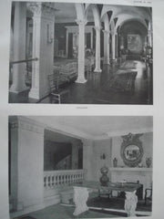 House of Mrs. F. B. Moran, Gallery, Entrance. Washington DC, 1915. George Oakley Totten