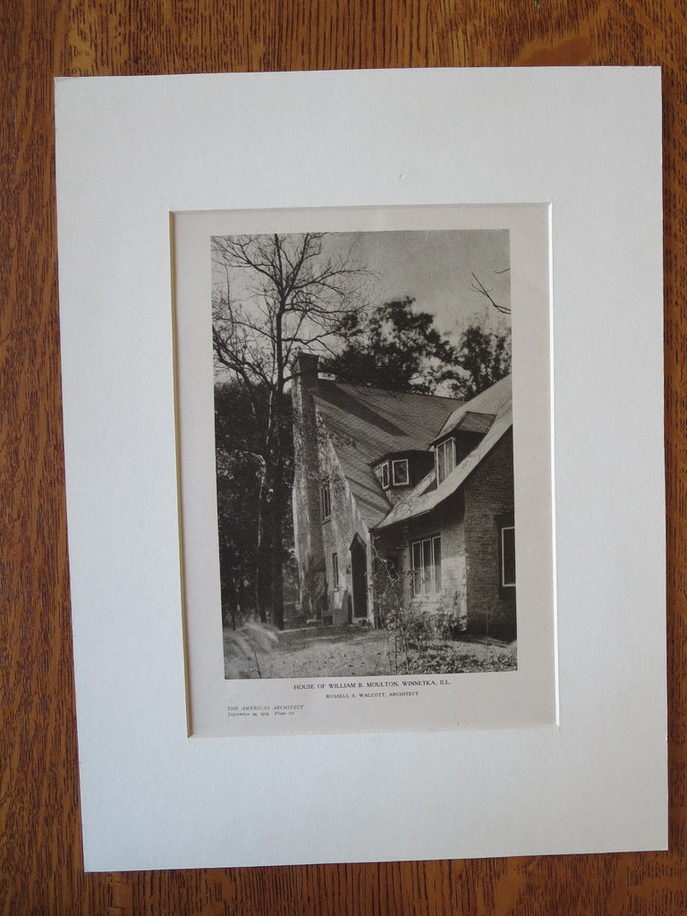 William B. Moulton House, Winnetka, IL, Russell S. Walcott, 1924, Lithograph