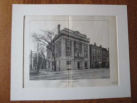 A.D. Club, Clubhouse, Cambridge, MA, Parker & Thomas, Arch., 1902, lithograph