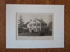 Edward B. Caldwell House,Bridgeport, CT, E. B. Caldwell, Arch., 1924, Lithograph