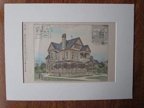 A.R. Smith House, Birmingham, CT, 1885, Original Plan, C.H. Stinton, Arch