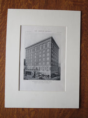 Recreation Building, Detroit, MI, Smith, Hinchman & Grylls, 1918, Lithograph