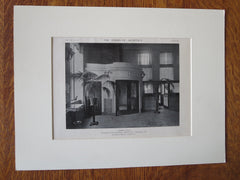 Peoples Trust Co., Interior, Tamaqua, PA, Tooker & Marsh, 1921, Lithograph