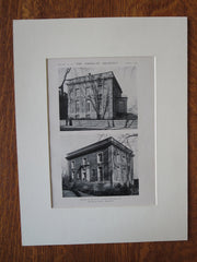 Dr. Otto J. Stein House, Chicago, IL, Holabird & Roche, 1921, Lithograph