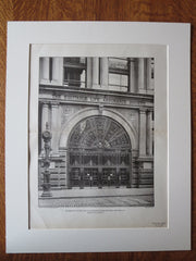 Equitable Life Assurance Building, Broadway, NY, George Post, 1902, lithograph