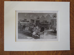 T. Newbold House Interior, E 79th St, NY, McKim, Mead & White, 1919, Lithograph