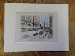 N Michigan Ave Development, Street View, Chicago, IL, 1918, V H Bailey, Original