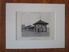Garden Pier, Atlantic City, NJ, Simon & Bassett, 1914, Lithograph
