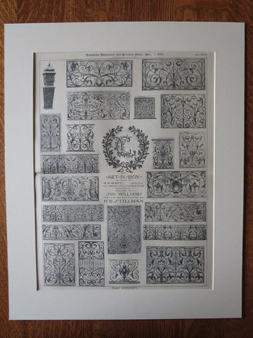 Canada Life Assurance, Iron Work, Montreal, Quebec, R.A. Waite, 1896, lithograph